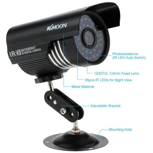 KKmoon 1200TVL Surveillance Security Outdoor Analog CCTV Camera IR-CUT Night View WaterproofSmart Device &amp; Safety<br>KKmoon 1200TVL Surveillance Security Outdoor Analog CCTV Camera IR-CUT Night View Waterproof<br>