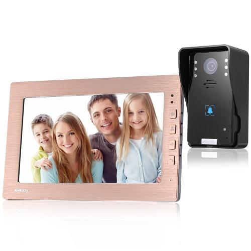 KKmoon verdrahtet 10,1 '' LCD Farbe Video Türsprechanlage