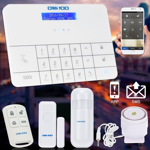 OWSOO  Wireless LCD GSM &amp; SMS Home House Security  Burglar Intruder Alarm System Auto DialerSmart Device &amp; Safety<br>OWSOO  Wireless LCD GSM &amp; SMS Home House Security  Burglar Intruder Alarm System Auto Dialer<br>