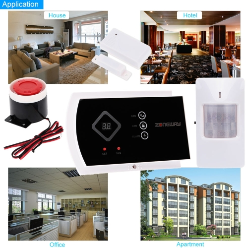 ZONEWAY ANDROID IOS APP Controlled Wireless GSM SMS Autodial Home Alarm Security SystemSmart Device &amp; Safety<br>ZONEWAY ANDROID IOS APP Controlled Wireless GSM SMS Autodial Home Alarm Security System<br>