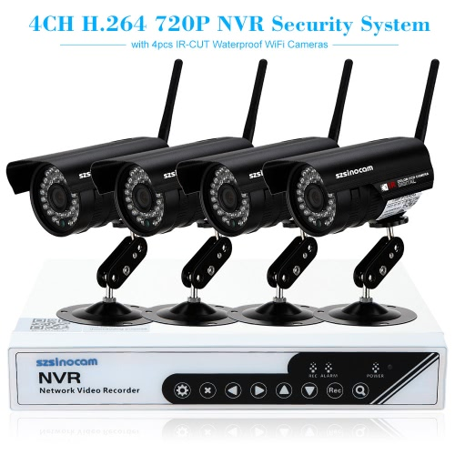 szsinocam 4CH HD 720P H.264 NVR Kit with 4pcs IP Camera 36IR LEDs Security SystemSmart Device &amp; Safety<br>szsinocam 4CH HD 720P H.264 NVR Kit with 4pcs IP Camera 36IR LEDs Security System<br>
