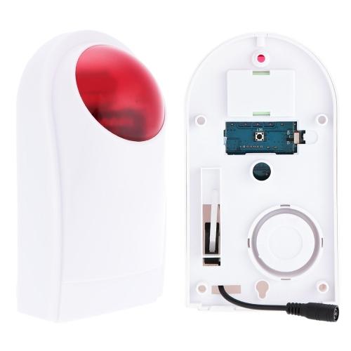 Wireless Flash Strobe Outdoor Sound Siren Red Light for Home Security Protect Alarm SystemSmart Device &amp; Safety<br>Wireless Flash Strobe Outdoor Sound Siren Red Light for Home Security Protect Alarm System<br>