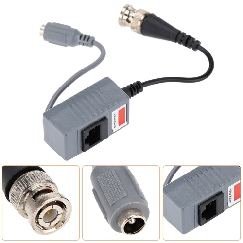 CCTV Camera Video Balun Transceiver BNC UTP RJ45 Video and Power over CAT5/5E/6 CableSmart Device &amp; Safety<br>CCTV Camera Video Balun Transceiver BNC UTP RJ45 Video and Power over CAT5/5E/6 Cable<br>