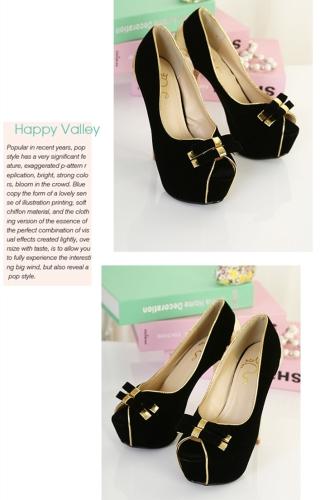 New Women Pumps Twin-Bow Golden Stiletto Heel Peep Toe Platform Sole Party Shoes BlackApparel &amp; Jewelry<br>New Women Pumps Twin-Bow Golden Stiletto Heel Peep Toe Platform Sole Party Shoes Black<br>