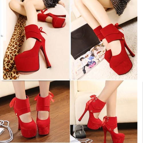 Women Sexy High Heels Platform Sole Ribbon Shoes Pumps RedApparel &amp; Jewelry<br>Women Sexy High Heels Platform Sole Ribbon Shoes Pumps Red<br>