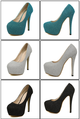 New Women High Heels Candy Color Platform Sole Pointed Heel Low Cut Pumps SilverApparel &amp; Jewelry<br>New Women High Heels Candy Color Platform Sole Pointed Heel Low Cut Pumps Silver<br>
