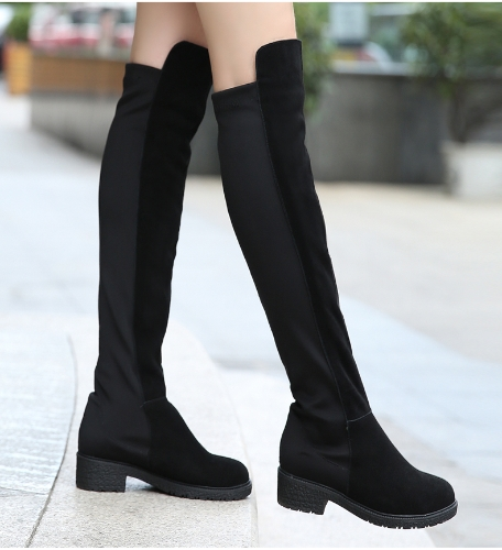New Spring Autumn Women Long Boots Patchwork Knee Length Shoes BlackApparel &amp; Jewelry<br>New Spring Autumn Women Long Boots Patchwork Knee Length Shoes Black<br>