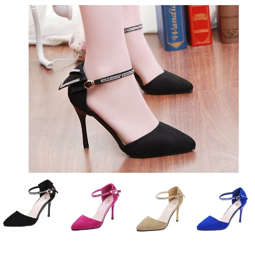 Fashion Women Summer Heels Pointed Toe Low Vamp Flat Sole Shoes Sandals RoseApparel &amp; Jewelry<br>Fashion Women Summer Heels Pointed Toe Low Vamp Flat Sole Shoes Sandals Rose<br>