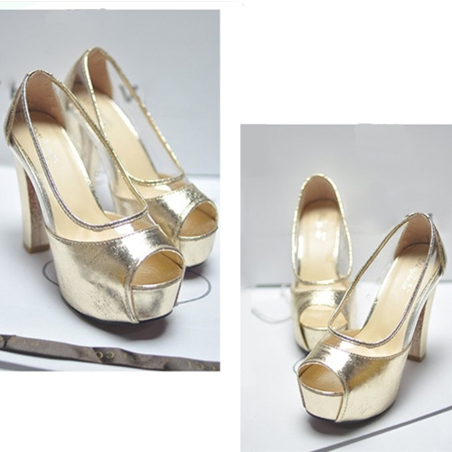 Fashion Women Summer High Heels Peep Toe Platform Sole Thin Shoes Pumps GoldenApparel &amp; Jewelry<br>Fashion Women Summer High Heels Peep Toe Platform Sole Thin Shoes Pumps Golden<br>