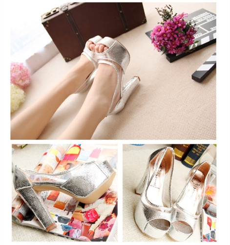 Fashion Women Summer High Heels Peep Toe Platform Sole Thin Shoes Pumps SilverApparel &amp; Jewelry<br>Fashion Women Summer High Heels Peep Toe Platform Sole Thin Shoes Pumps Silver<br>