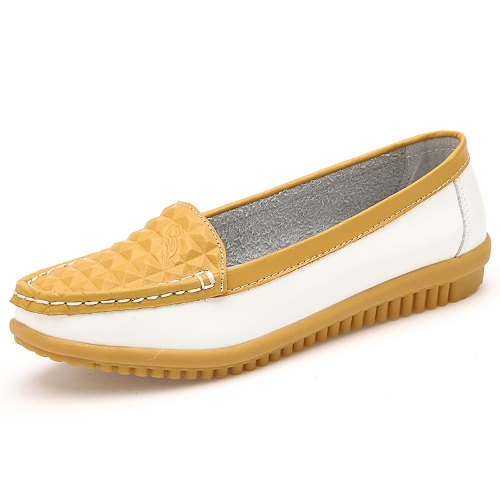 Fashion Women Flats Round Toe Slip-On Color Block Skidproof Loafers Casual ShoesApparel &amp; Jewelry<br>Fashion Women Flats Round Toe Slip-On Color Block Skidproof Loafers Casual Shoes<br>