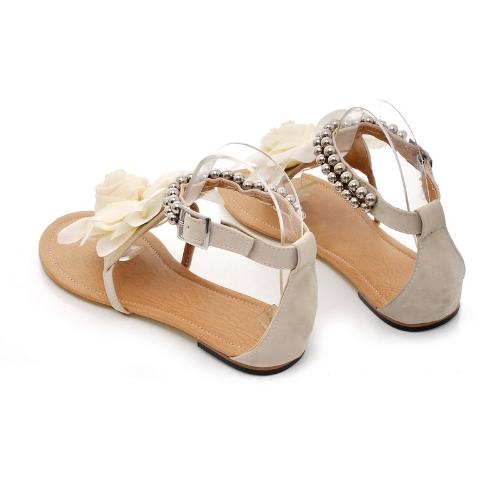 New Summer Women Girls Flats Toe-post Beaded Flower Flip-flop Sandals Shoes BeigeApparel &amp; Jewelry<br>New Summer Women Girls Flats Toe-post Beaded Flower Flip-flop Sandals Shoes Beige<br>