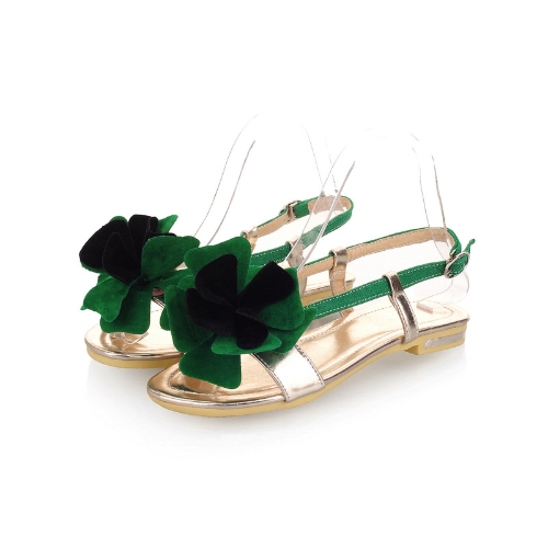 Fashion Summer Women Flat Sandal Slingback Shoes Flats GreenApparel &amp; Jewelry<br>Fashion Summer Women Flat Sandal Slingback Shoes Flats Green<br>
