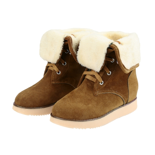 New Fashion Women Snow Boots Faux Suede Fur Tied Fastening Round Toe Fold Down Casual BootsApparel &amp; Jewelry<br>New Fashion Women Snow Boots Faux Suede Fur Tied Fastening Round Toe Fold Down Casual Boots<br>