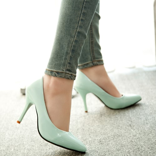 New Fashion Women Pumps Patent Leather Candy Color Pointed Toe High Heels Simple ShoesApparel &amp; Jewelry<br>New Fashion Women Pumps Patent Leather Candy Color Pointed Toe High Heels Simple Shoes<br>