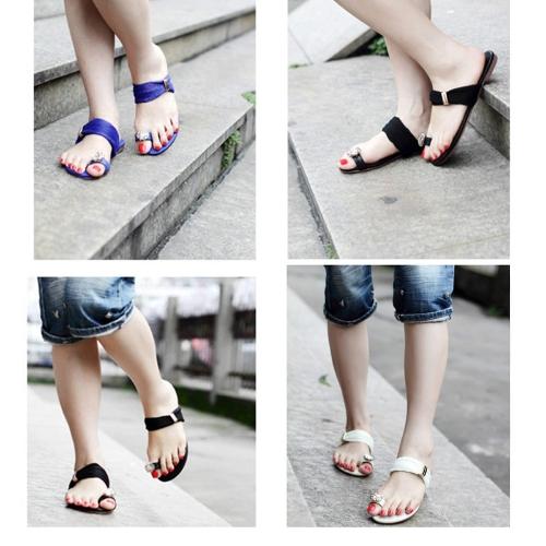 New Summer Women Girls Flats Rhinestone Toe-post Flip-flop Sandals Shoes BeigeApparel &amp; Jewelry<br>New Summer Women Girls Flats Rhinestone Toe-post Flip-flop Sandals Shoes Beige<br>