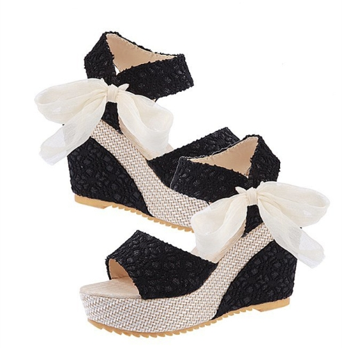 New Summer Fashion Lace High Wedges Peep Toe Platform Sole Slingback Shoes Sandals BlackApparel &amp; Jewelry<br>New Summer Fashion Lace High Wedges Peep Toe Platform Sole Slingback Shoes Sandals Black<br>
