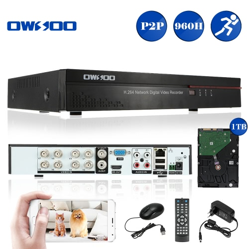 OWSOO 8CH Full 960H/D1 H.264 P2P Network DVR CCTV Security Phone Control Motion Detection Email Alarm for Surveillance CameraSmart Device &amp; Safety<br>OWSOO 8CH Full 960H/D1 H.264 P2P Network DVR CCTV Security Phone Control Motion Detection Email Alarm for Surveillance Camera<br>