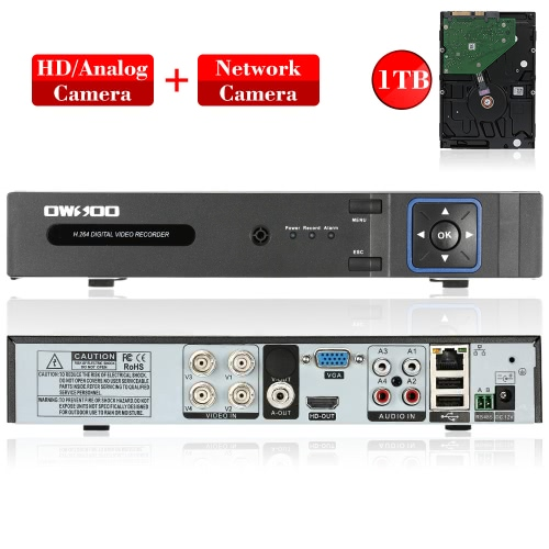 OWSOO 4CH Channel Full 1080N(960*1080) AHD DVR HVR NVR H.264 HD P2P Cloud Network Onvif Digital Video Recorder + 1TB HDD support ASmart Device &amp; Safety<br>OWSOO 4CH Channel Full 1080N(960*1080) AHD DVR HVR NVR H.264 HD P2P Cloud Network Onvif Digital Video Recorder + 1TB HDD support A<br>