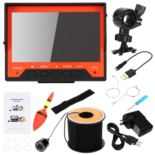 Mini HD Underwater Fish Finder Kit with 4.3 LCD Monitor + 30M 1200TVL Camera + 2200mah Rechargeable Battery + Bracket + WristbandSmart Device &amp; Safety<br>Mini HD Underwater Fish Finder Kit with 4.3 LCD Monitor + 30M 1200TVL Camera + 2200mah Rechargeable Battery + Bracket + Wristband<br>
