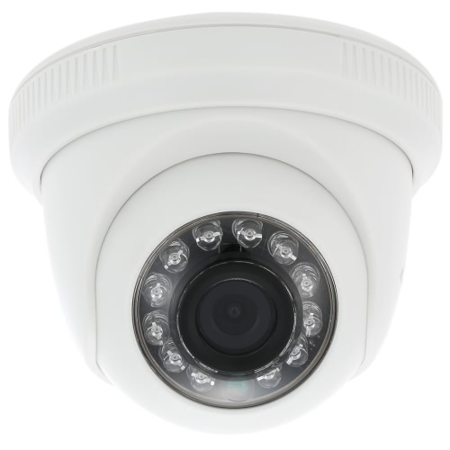 COTIER  960P AHD Dome CCTV Camera 3.6mm 1/3'' CMOS 1.3MP 12 IR Lamps Night Vision IR-CUT Indoor Home Security PAL System