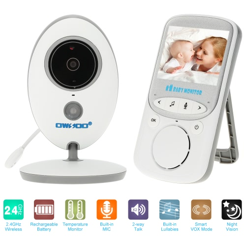 OWSOO  2.4GHz 2.4in Wireless LCD Baby Monitor + IR Camera Support 2-way Audio Night Vision VOX Mode Built-in Lullabies RechargeablSmart Device &amp; Safety<br>OWSOO  2.4GHz 2.4in Wireless LCD Baby Monitor + IR Camera Support 2-way Audio Night Vision VOX Mode Built-in Lullabies Rechargeabl<br>
