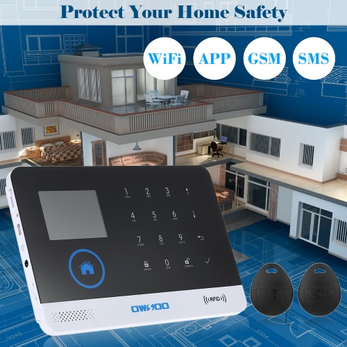 OWSOO 433MHz WIFI+GSM Wireless Alarm Host LCD Display Touch KeyboardSmart Device &amp; Safety<br>OWSOO 433MHz WIFI+GSM Wireless Alarm Host LCD Display Touch Keyboard<br>