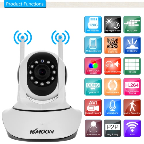 KKmoon  1080P Wireless WIFI Pan Tilt HD IP Camera Baby MonitorSmart Device &amp; Safety<br>KKmoon  1080P Wireless WIFI Pan Tilt HD IP Camera Baby Monitor<br>