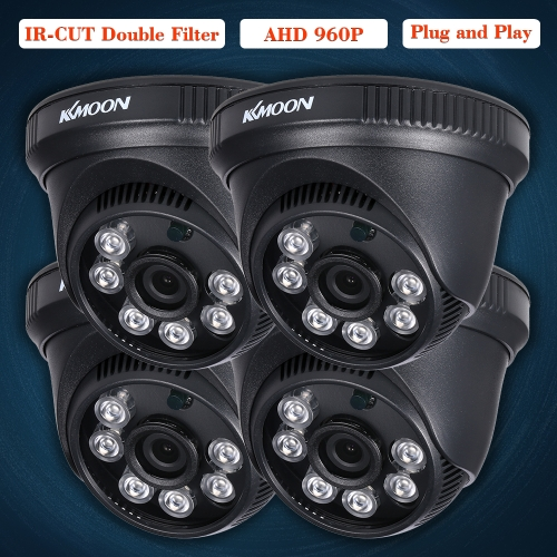 KKmoon  4*960P AHD Dome IR CCTV Camera + 4*60ft Surveillance Cable Support IR-CUT Night Vision 6pcs Array Infrared Lamps 1/2.8'' CSmart Device &amp; Safety<br>KKmoon  4*960P AHD Dome IR CCTV Camera + 4*60ft Surveillance Cable Support IR-CUT Night Vision 6pcs Array Infrared Lamps 1/2.8'' C<br>
