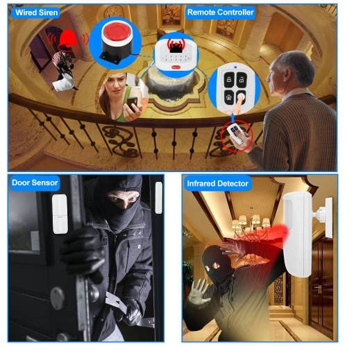 KKmoon 433MHz Wireless Auto-dial GSM+PSTN SMS Alarm Security SystemSmart Device &amp; Safety<br>KKmoon 433MHz Wireless Auto-dial GSM+PSTN SMS Alarm Security System<br>