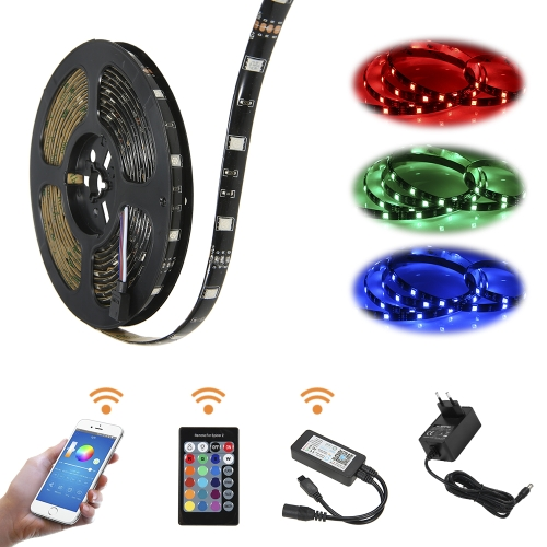 WIFI Smart Phone Intelligent IR24 Keys Remote Control 5M Lighting StripSmart Device &amp; Safety<br>WIFI Smart Phone Intelligent IR24 Keys Remote Control 5M Lighting Strip<br>