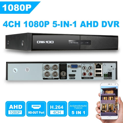 OWSOO 4CH H.264 AHD 1080P P2P Network DVR CCTV Security Support for Android/iOS APP Control Motion Detection Onvif DVR 5IN1 PTZ foSmart Device &amp; Safety<br>OWSOO 4CH H.264 AHD 1080P P2P Network DVR CCTV Security Support for Android/iOS APP Control Motion Detection Onvif DVR 5IN1 PTZ fo<br>