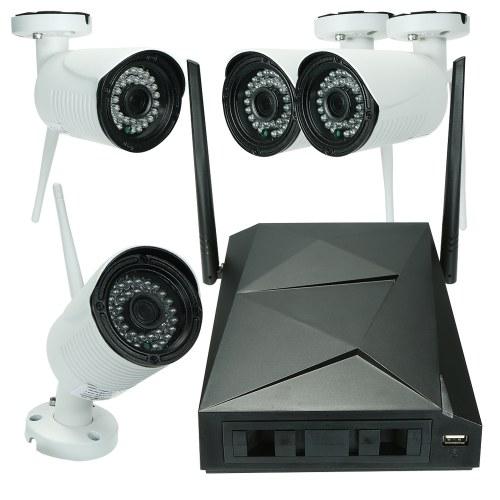 Système d'appareil photo sans fil WiFi NVR 4 canaux HD 1080P