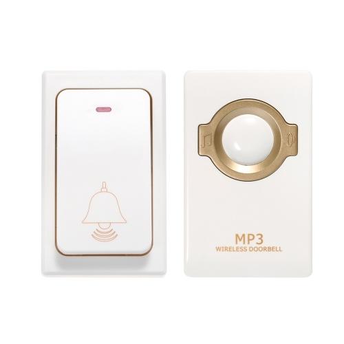 Wireless Doorbell Self-powered Transmitter Waterproof Push Button EU Plug