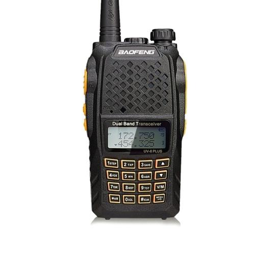 BAOFENG Pofung UV-6 Puls Walkie-Talkie Zwei-Wege-Radio 136-174 / 400-520 MHz VHF / UHF Dual-Band-Handheld-Radio-Transceiver