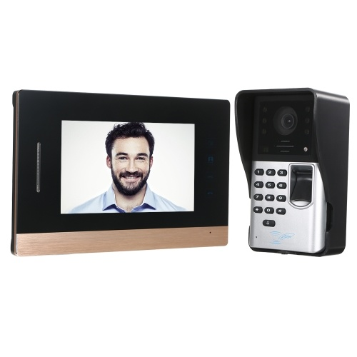 7 inch Wired Video Doorbell Visual Hands-free Two-way Audio