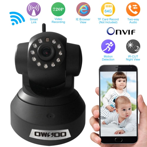 OWSOO  720P Surveillance IP Camera Wireless Wifi CCTV Security Pan Tilt 2-way Audio with Phone Control Night View Support TF CardSmart Device &amp; Safety<br>OWSOO  720P Surveillance IP Camera Wireless Wifi CCTV Security Pan Tilt 2-way Audio with Phone Control Night View Support TF Card<br>
