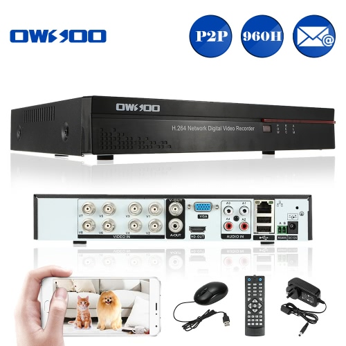 OWSOO 8CH 960H/D1 H.264 P2P Network DVR CCTV Security Phone Control Motion Detection Email Alarm for Surveillance CameraSmart Device &amp; Safety<br>OWSOO 8CH 960H/D1 H.264 P2P Network DVR CCTV Security Phone Control Motion Detection Email Alarm for Surveillance Camera<br>