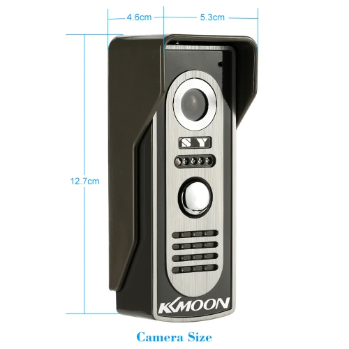 """KKmoon 7"""" Wired Video Door Phone System Visual Intercom Doorbell with 1*800x480 Indoor Monitor + 1*700TVL Outdoor Camera support USmart Device &amp; Safety<br>KKmoon 7"""" Wired Video Door Phone System Visual Intercom Doorbell with 1*800x480 Indoor Monitor + 1*700TVL Outdoor Camera support U<br>"""