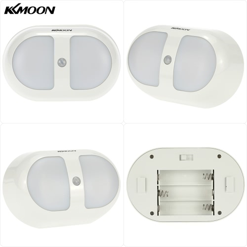 KKmoon  Portable 10 LED PIR Human Motion Induction Detector Light  Wireless Bedroom Passage Wall Night Lamp White LightSmart Device &amp; Safety<br>KKmoon  Portable 10 LED PIR Human Motion Induction Detector Light  Wireless Bedroom Passage Wall Night Lamp White Light<br>