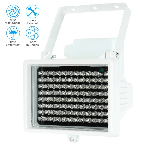 96 LEDS IR Illuminator Array Infrared Lamps Night Vision Outdoor Waterproof For CCTV Security CameraSmart Device &amp; Safety<br>96 LEDS IR Illuminator Array Infrared Lamps Night Vision Outdoor Waterproof For CCTV Security Camera<br>