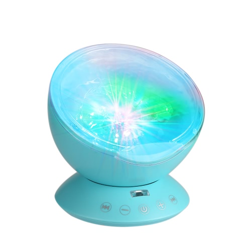 Multicolor Ocean Wave Light Projector Nightlight with Mini Music Player for Living Room and Bedroom Novelty Baby Lamp BlueSmart Device &amp; Safety<br>Multicolor Ocean Wave Light Projector Nightlight with Mini Music Player for Living Room and Bedroom Novelty Baby Lamp Blue<br>