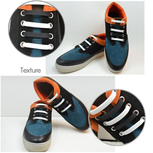 12Pcs Elastic Silicone Shoelaces No Tie Hammer Shape Shoe Sneaker Laces for Sports Outdoors TrainerApparel &amp; Jewelry<br>12Pcs Elastic Silicone Shoelaces No Tie Hammer Shape Shoe Sneaker Laces for Sports Outdoors Trainer<br>