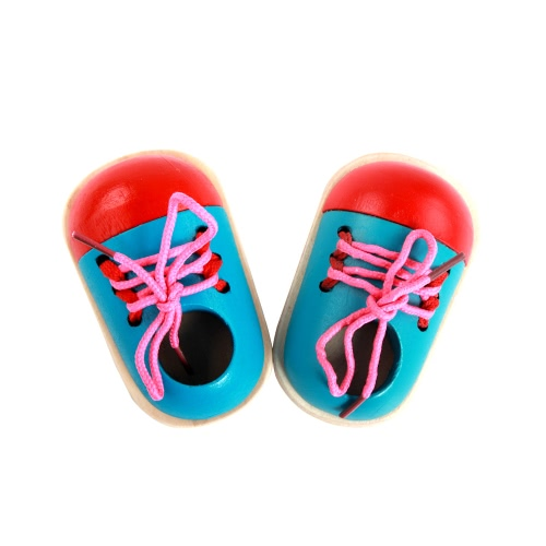 Wood Lacing Sneaker Educational Shoes Kids Toy Learn How To Tie Shoelaces Hand Coordination Development Educational ToyToys &amp; Hobbies<br>Wood Lacing Sneaker Educational Shoes Kids Toy Learn How To Tie Shoelaces Hand Coordination Development Educational Toy<br>