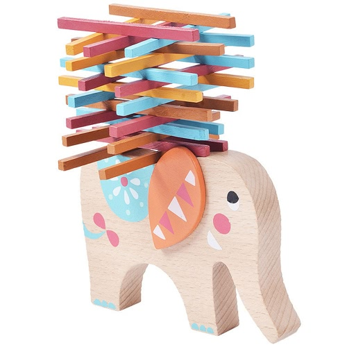 Wooden Balance Elephant Wooden Blocks Balance Toy Table Game Elephant Balancing Game Educational ToysToys &amp; Hobbies<br>Wooden Balance Elephant Wooden Blocks Balance Toy Table Game Elephant Balancing Game Educational Toys<br>