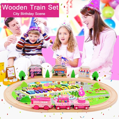 39Pcs Wooden Train Set Electronic Train Track Set With Music Wooden Railway For Kids Birthday GiftToys &amp; Hobbies<br>39Pcs Wooden Train Set Electronic Train Track Set With Music Wooden Railway For Kids Birthday Gift<br>