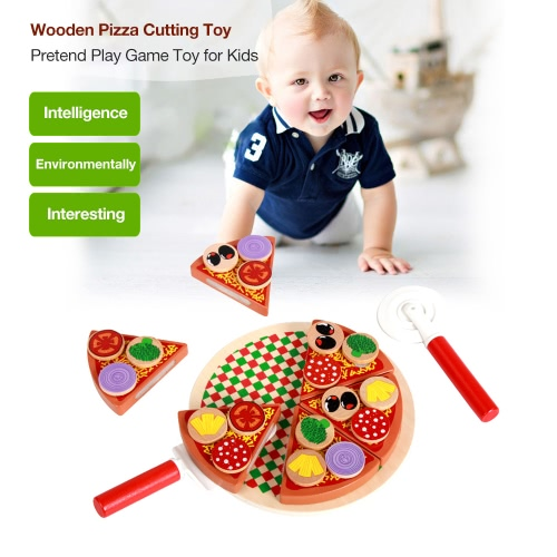 27Pcs Wooden Pizza Cutting Toy Children Kitchen Toys Food Simulation Cut Toys Pretend Play Games Tableware Toy for KidsToys &amp; Hobbies<br>27Pcs Wooden Pizza Cutting Toy Children Kitchen Toys Food Simulation Cut Toys Pretend Play Games Tableware Toy for Kids<br>
