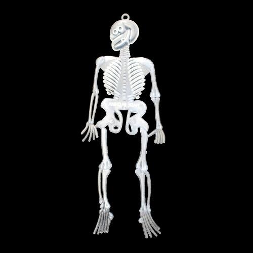 1pcs decoração de halloween esqueleto corpo quadro luminoso