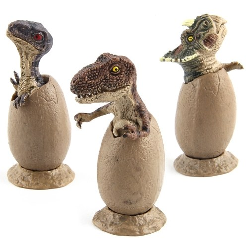 3 PCS Jurassic Period Mini Size Vivid Dinosaur Egg Broken Shell Model