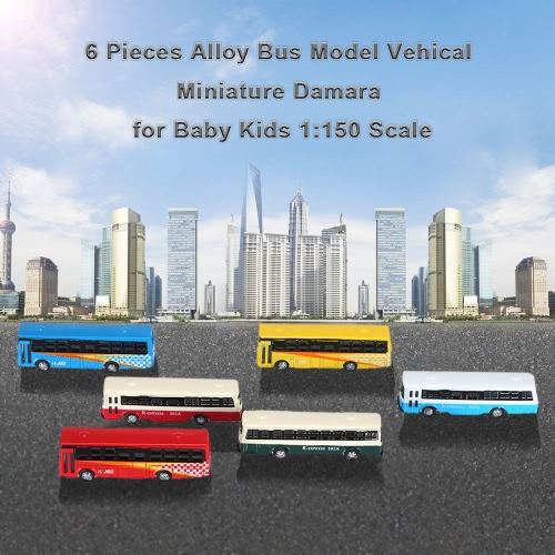 6 Pieces Alloy Bus Model Vehical Miniature Diorama for Baby Kids 1:150 ScaleToys &amp; Hobbies<br>6 Pieces Alloy Bus Model Vehical Miniature Diorama for Baby Kids 1:150 Scale<br>